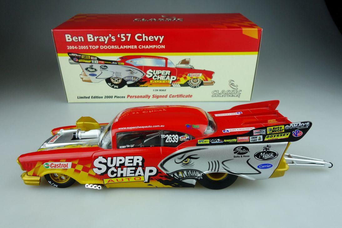 Classic Carlectables 1/24 Ben Bray ´57 Chevy 2004-05 top doorslammer Box 109091