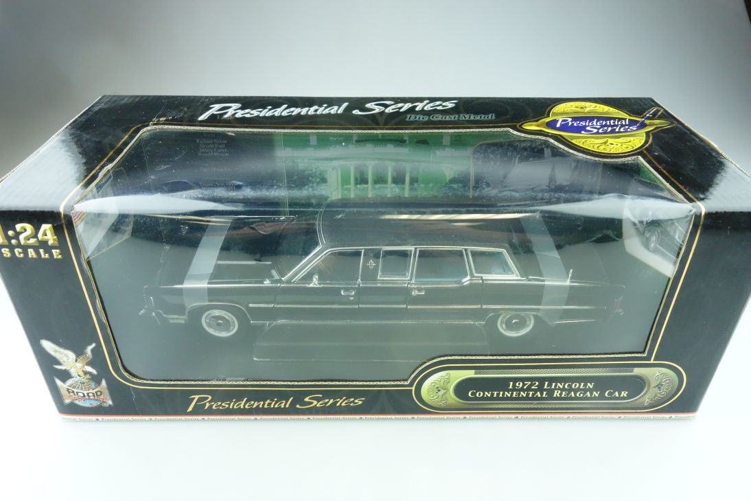 Road Signature 1/24 Lincoln Continental 1972 Reagan Presidential mit Box  512266
