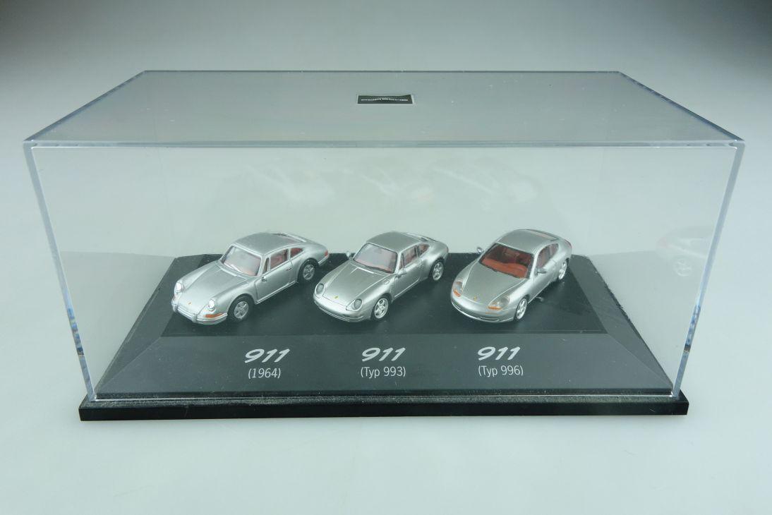 Herpa Set 1/87 Porsche 911 Generationen Set mit Box 512280