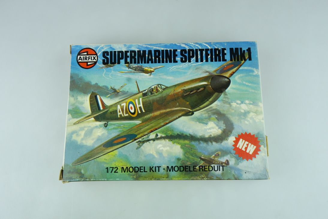 Airfix 1/72 Supermarine Spitfire Mk1 No. 61065-2 plane model kit OVP 109148
