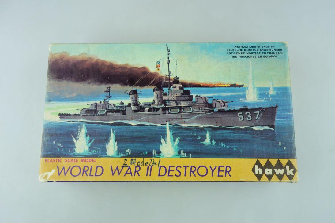 Hawk 1/670 2x World War II Destroyer No.10-39 ship model kit OVP 109154