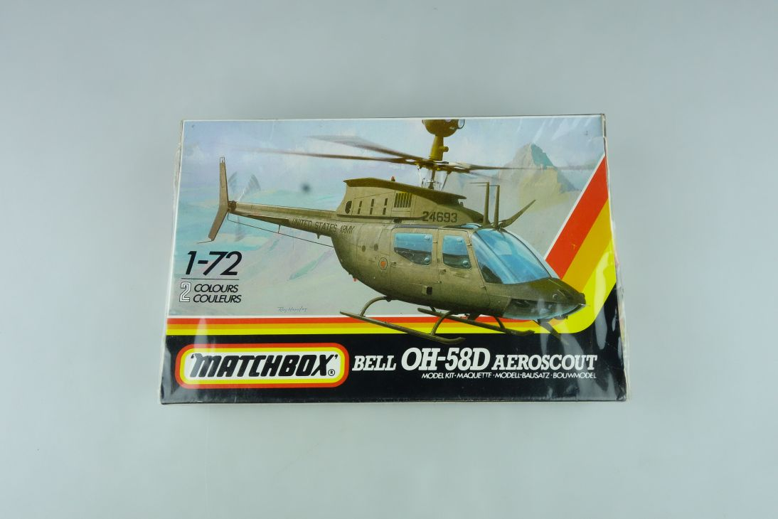 Matchbox 1/72 Bell OH-58D Aeroscout Pk-43 helicopter model kit OVP 109160