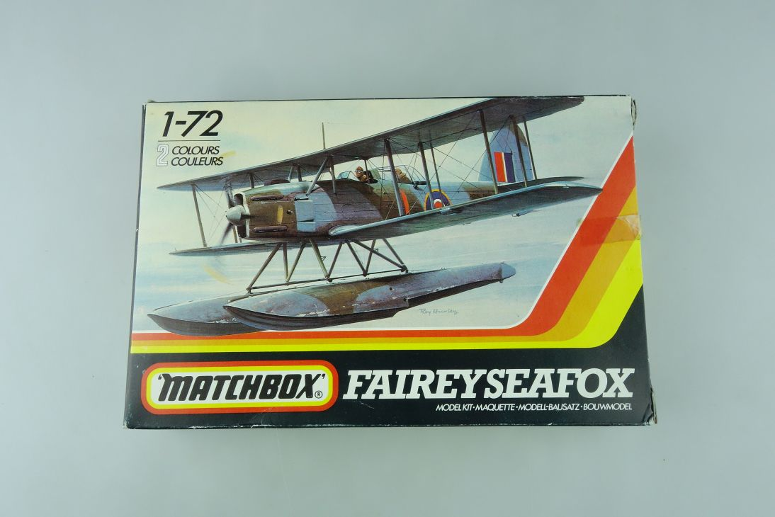 Matchbox 1/72 Fairey Seafox Pk-36 prop plane model kit OVP 109162