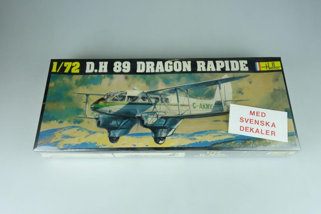 Heller 1/72 D.H 89 Dragon Rapide No. 345 plane model kit OVP 109174