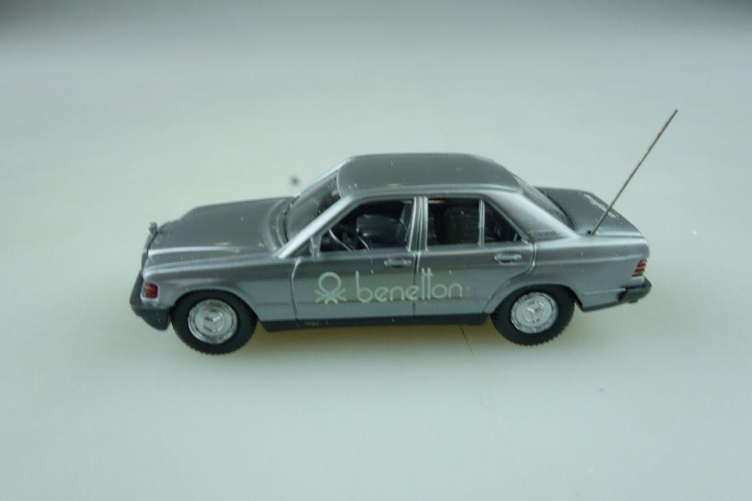 Wiking 1/87 Mercedes Benz 190E Benetton Werbemodell silber ohne Box 512289