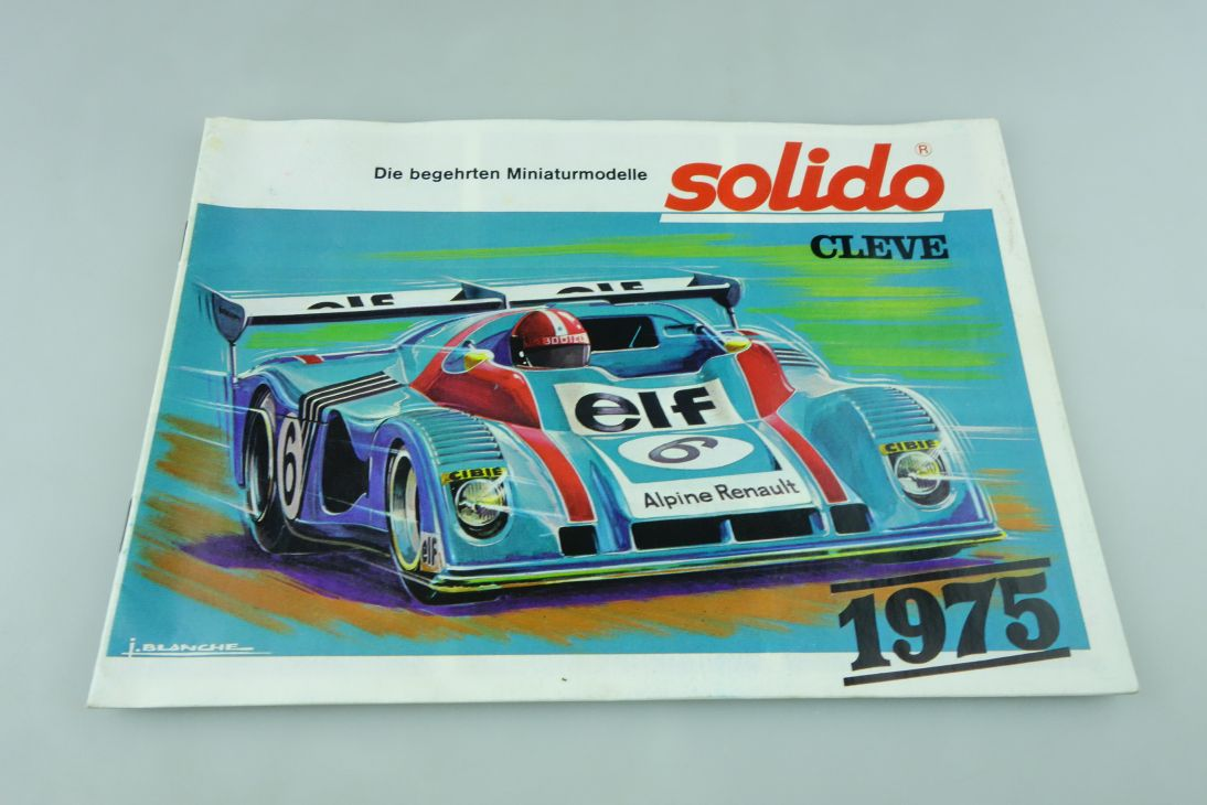 Solido Produkt Katalog 1975 Din A5 Mercedes BMW Porsche & Diverse 512294