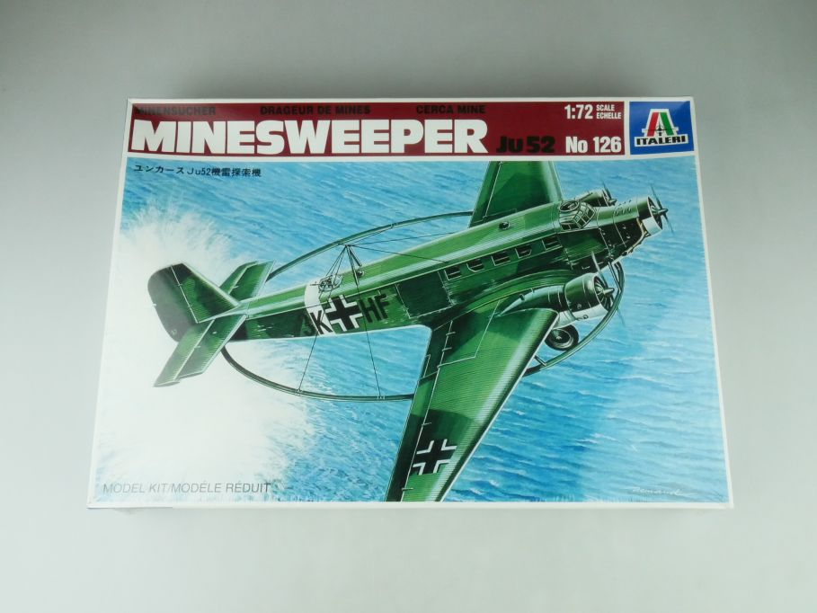 Italeri 1/72 Minesweeper JU52 No 126 model kit OVP in foil/ in Folie 109209