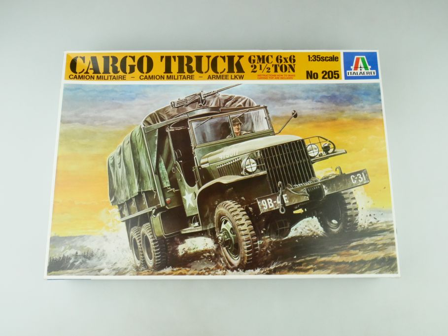 Italeri 1/35 Cargo Truck GMC 6x6  2 1/2 ton No 205 model kit 109216