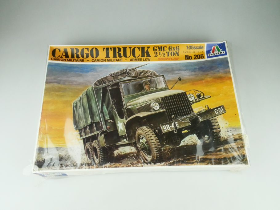 Italeri 1/35 Cargo Truck GMC 6x6  2 1/2 ton No 205 model kit 109217