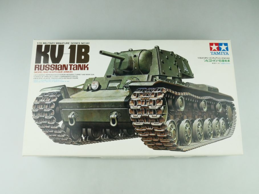 Tamiya 1/35 KV 1B Russian Tank No 142 model kit 109222