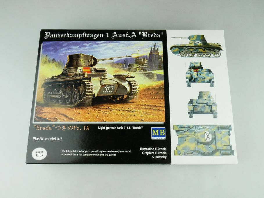 "Master Box 1/35 Panzerkampfwagen 1 Ausf.A ""Breda"" model kit 109225"