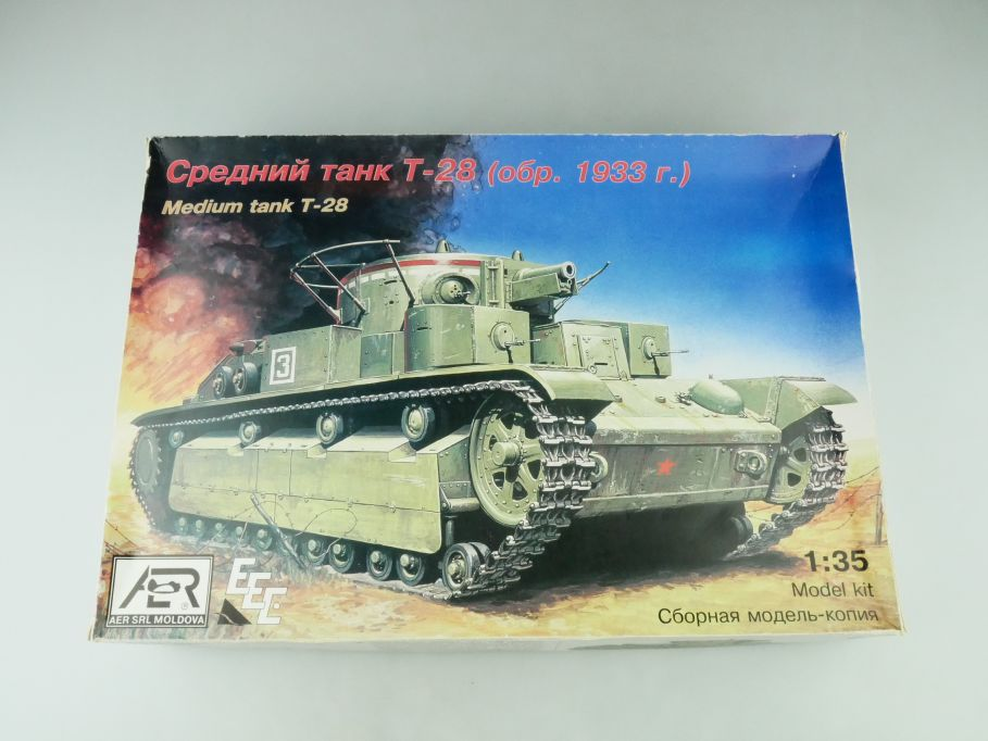 Aer SRL 1/35 Medium Tank T-28 1933 No 35010 model kit 109227