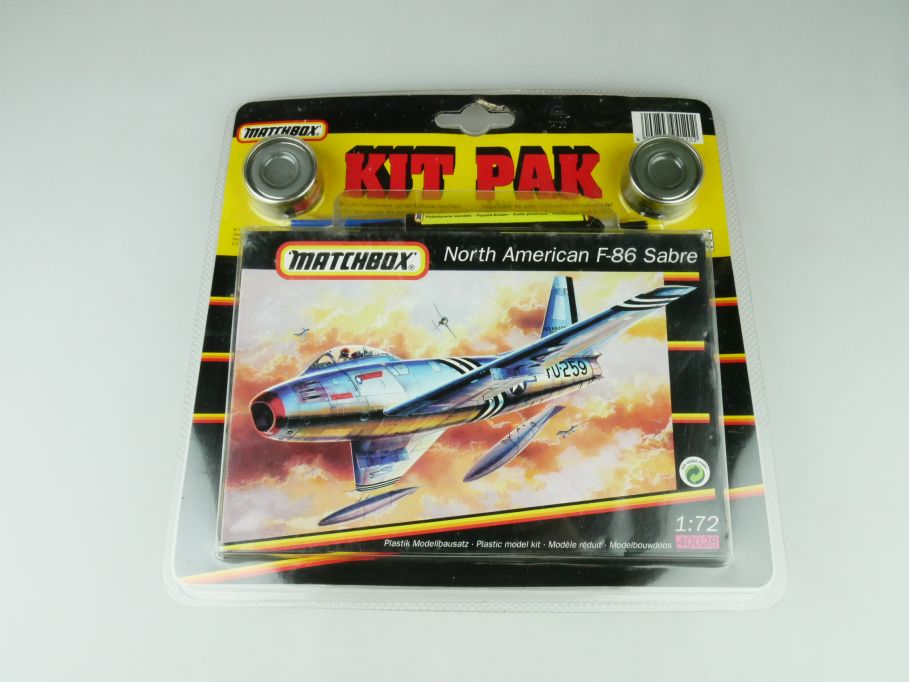 Matchbox 1/72 Kit Pak North American F-86 Sabre 40028 model kit 109233