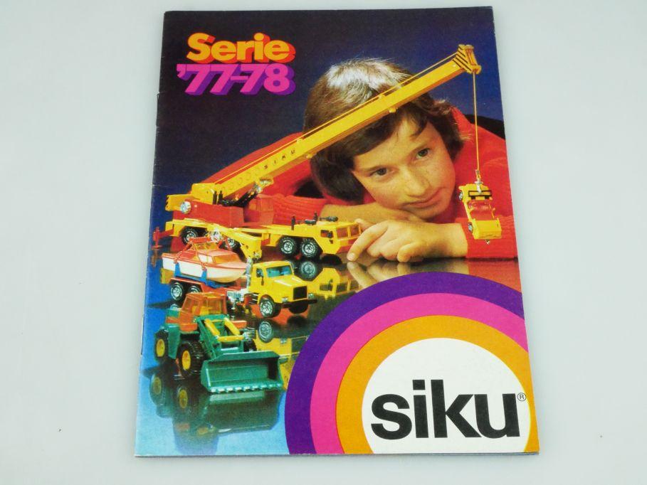 Siku Serie 77-78 Katalog Programm Heft brochure catalog catalogue 1977-78 109338