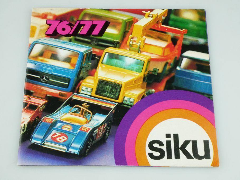 Siku Serie 76-77 Katalog Programm Heft brochure catalog catalogue 1976-77 109339