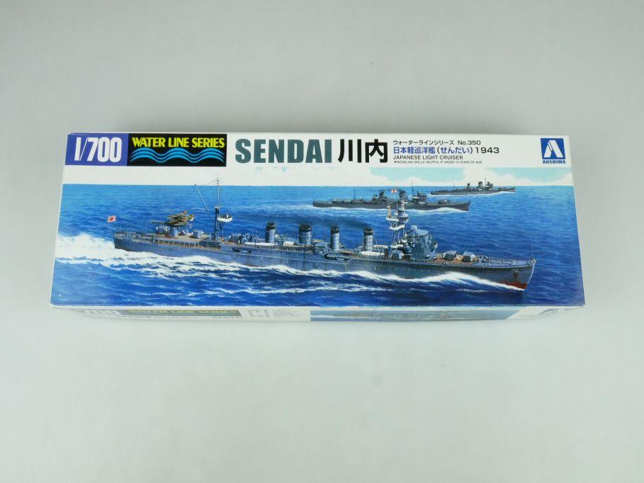 Aoshima 1/700 Water Line Series Sendai jp. light cruiser No 350 kit 109240