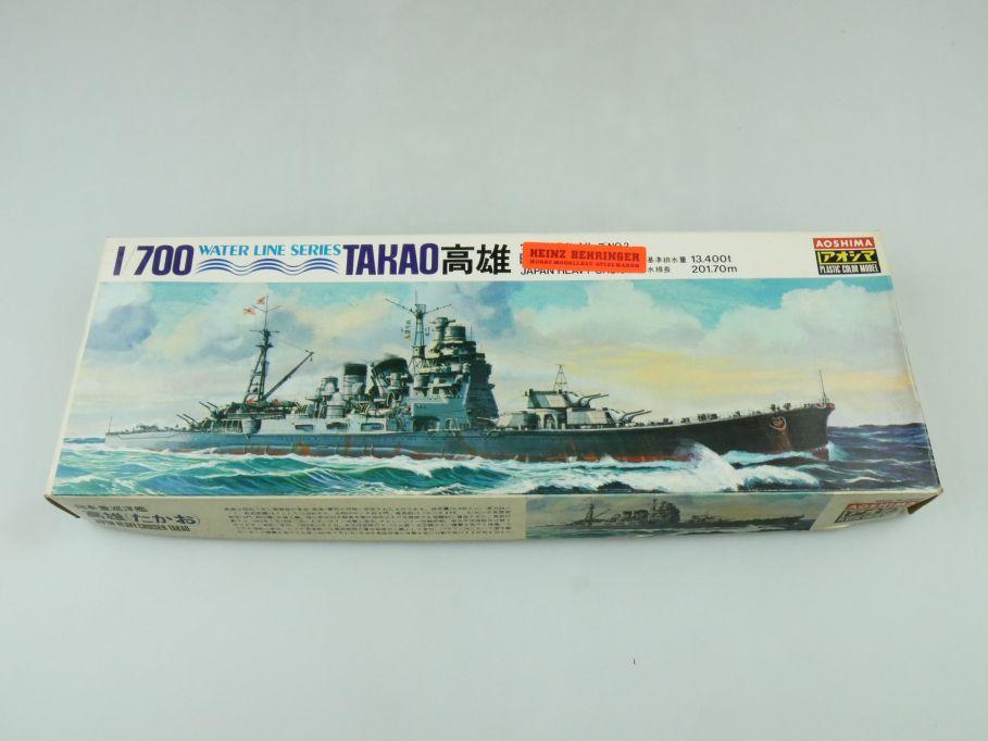 Aoshima 1/700 Water Line Series Takao Japanese Heavy Cruiser No 2 kit 109289