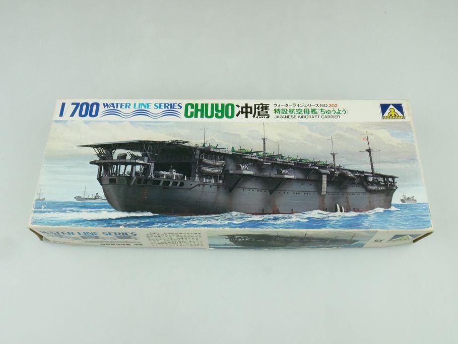 Aoshima 1/700 Water Line Series Chuyo Japan Aircraft Carrier No 202 kit 109294