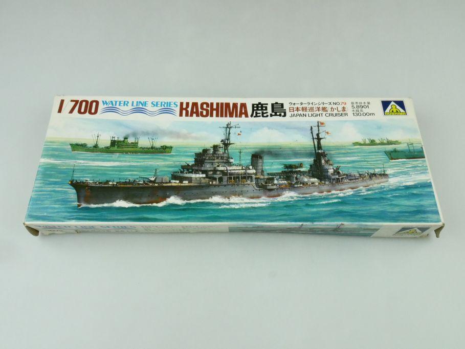Aoshima 1/700 Water Line Series Kashima Japan Light Cruiser No 79 kit 109297