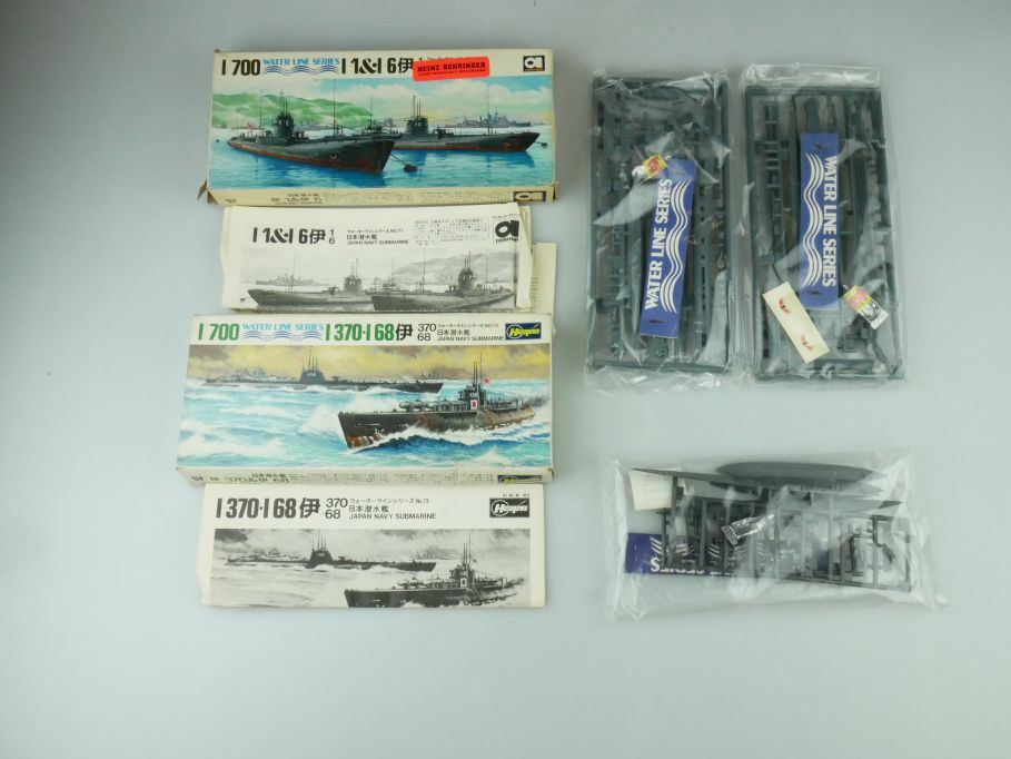 Hasegawa 1/700 Water Line 6x Boote I-370 I-68 I-1 I-6 Japan Submarine kit 109311