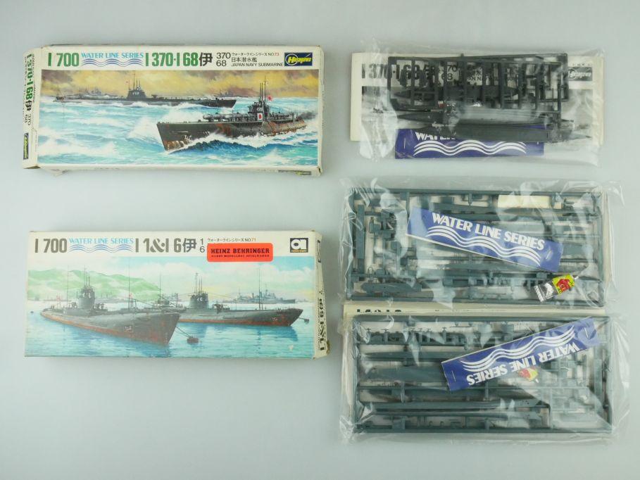 Hasegawa 1/700 Water Line 6x Boote I-370 I-68 I-1 I-6 Japan Submarine kit 109312