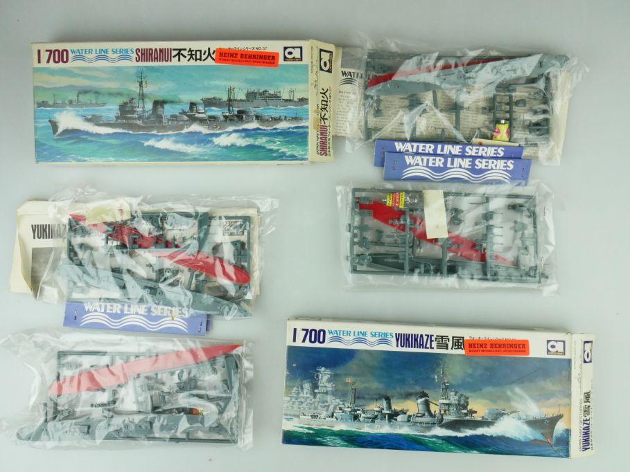 Aoshima 1/700 Water Line Konvolut Yukikaze Shiranui Japan Destroyer kit 109324