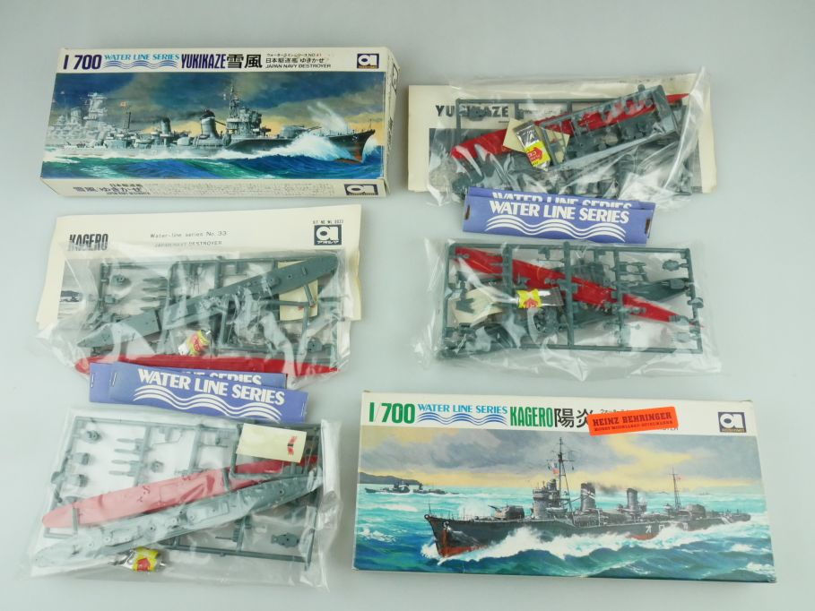 Aoshima 1/700 Water Line Konvolut Kagero Yukikaze Japan Destroyer kit 109326
