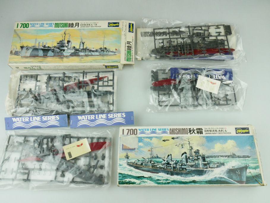 Hasegawa 1/700 Water Line Konvolut Mutsuki Akishimo Japan Destroyer kit 109335