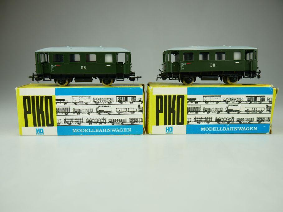 2x PIKO H0 Personenwagen Aussichtswagen der Windbergbahn der DR DDR 109377