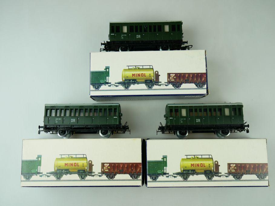Piko H0 3 Abteilwagen Windbergbahn der DR DDR 5/6515/010 + Box 109379