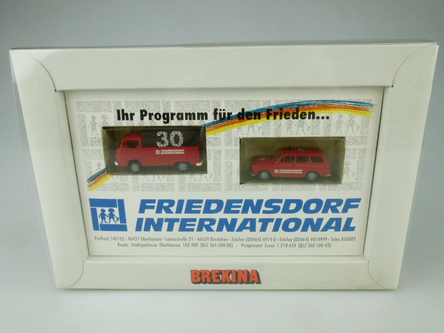 Brekina H0 30J Friedensdorf International Volkswagen T2  VW 1500/1600 Box 109368