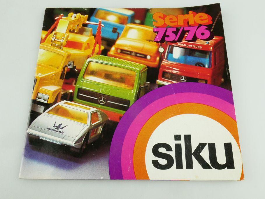 Siku Serie 75/76 Katalog Programm Heft brochure catalog catalogue 1975-76 109340