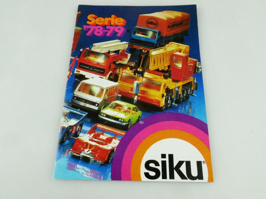 Siku Serie 78-79 Katalog Programm Heft brochure catalog catalogue 1978-79 109341