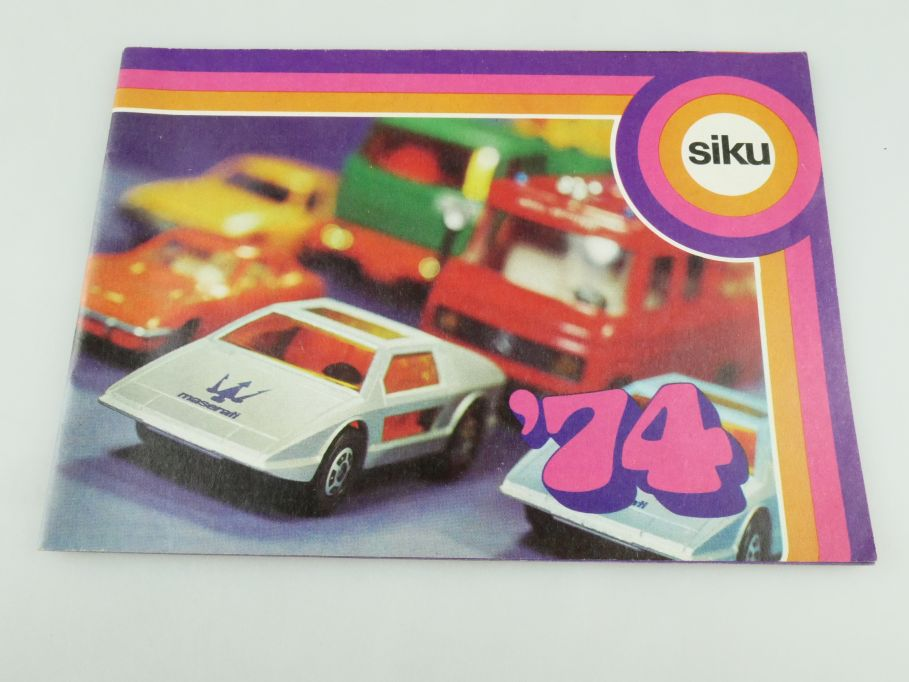 Siku ´74 Katalog Programm Heft brochure catalog catalogue 1974 109342