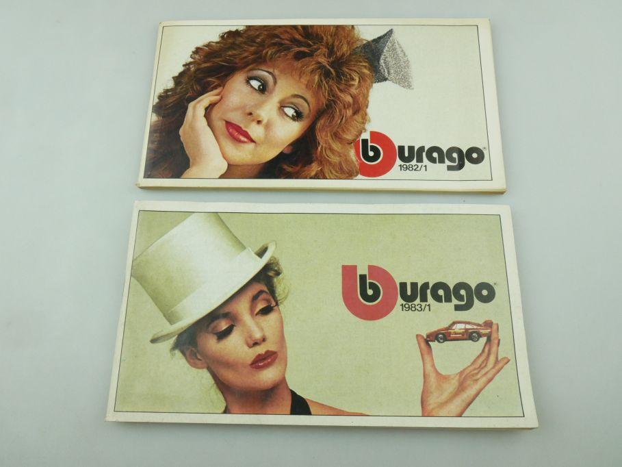 Bburago 1982/1 + 1983/1 Katalog Heft Burago brochure catalog catalogue 109351