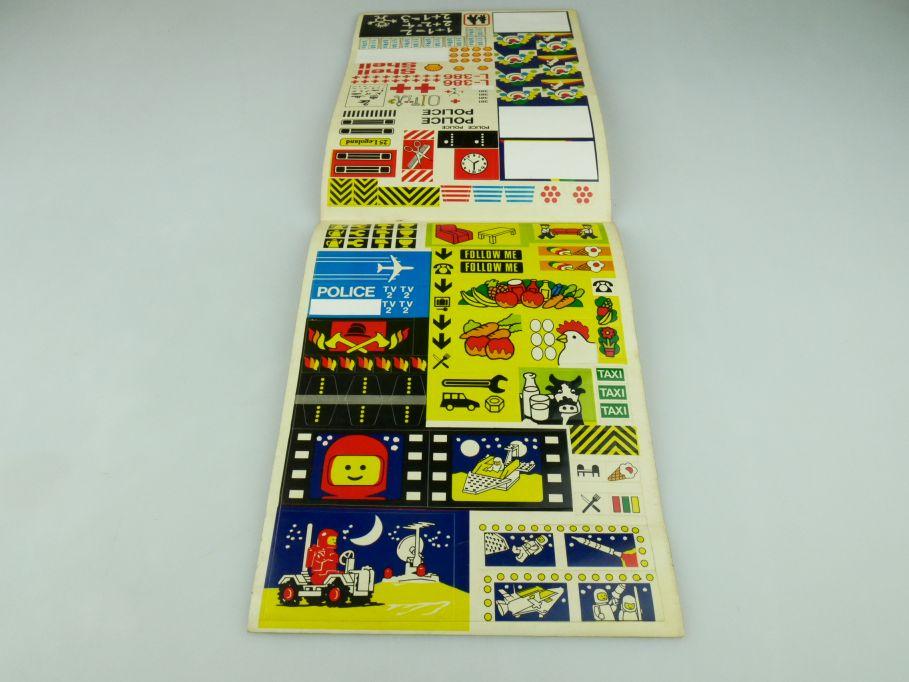 Lego 70/80er Aufkleber city space vintage rare sticker aus Ideen Buch 109353