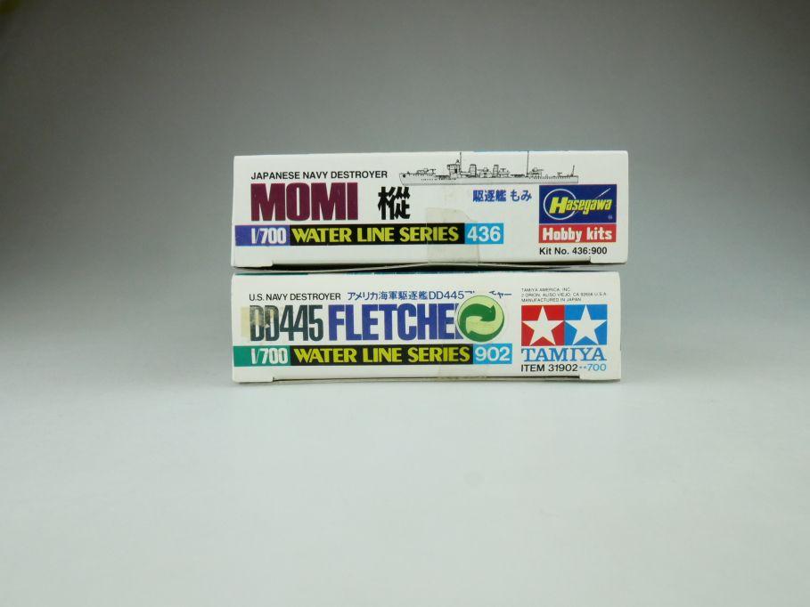 Tamiya Hasegawa 1/700 Water Line Series Momi / DD445 Fletcher kit OVP 109399