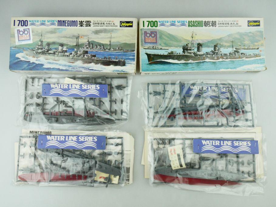 Hasegawa 1/700 Water Line Konvolut 2x Asashio/Minegumo Japan Navy OVP kit 109401