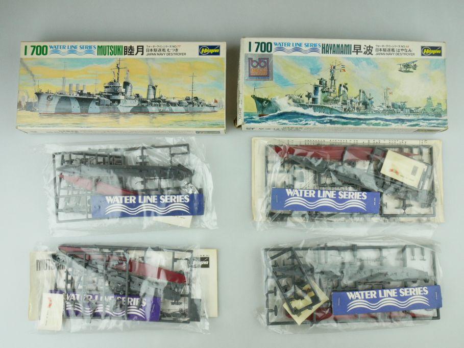 Hasegawa 1/700 Water Line Konvolut 2x Hayanami/Mutsuki Japan Navy OVP kit 109403
