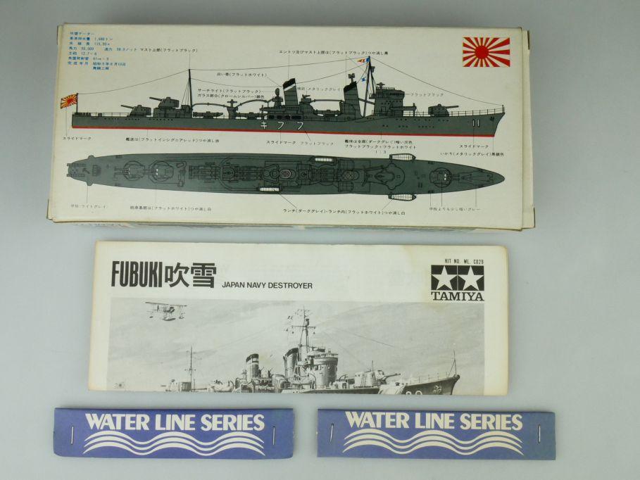 Tamiya 1/700 Water Line Konvolut 2x Fubuki / Shiratuyu Japan Navy OVP kit 109408
