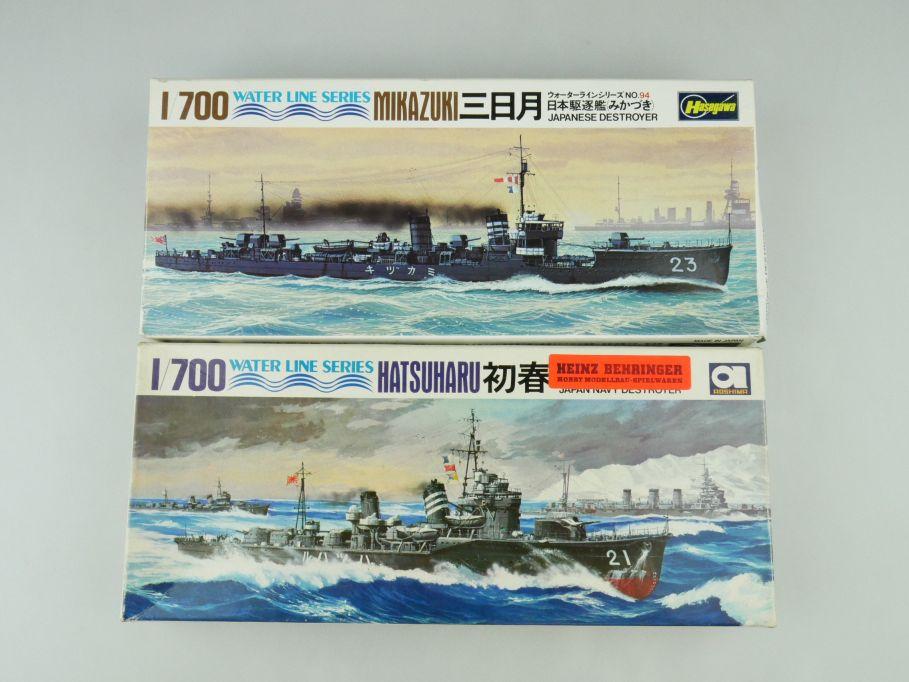 Hasegawa 1/700 Water Line Konvolut Hatsuharu/ Mikazuki Japan Navy OVP kit 109409