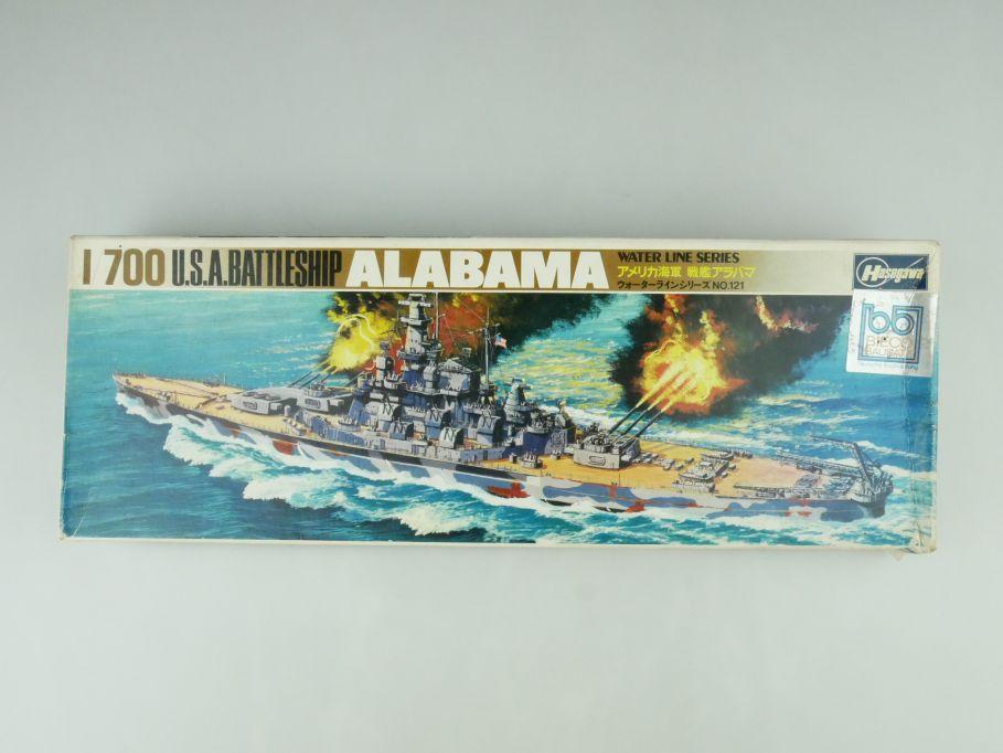 Hasegawa 1/700 Water Line Series Alabama U.S.A. Battleship No 121 kit OVP 109412