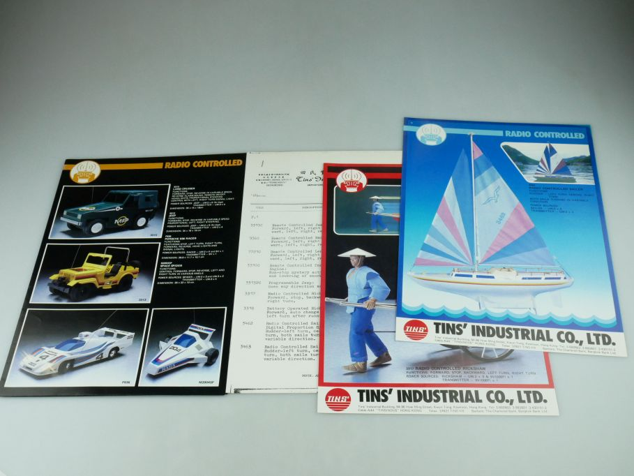 1983 TINS Hongkong RC toy Werbeblatt brochure price list Katalog catalog 109386