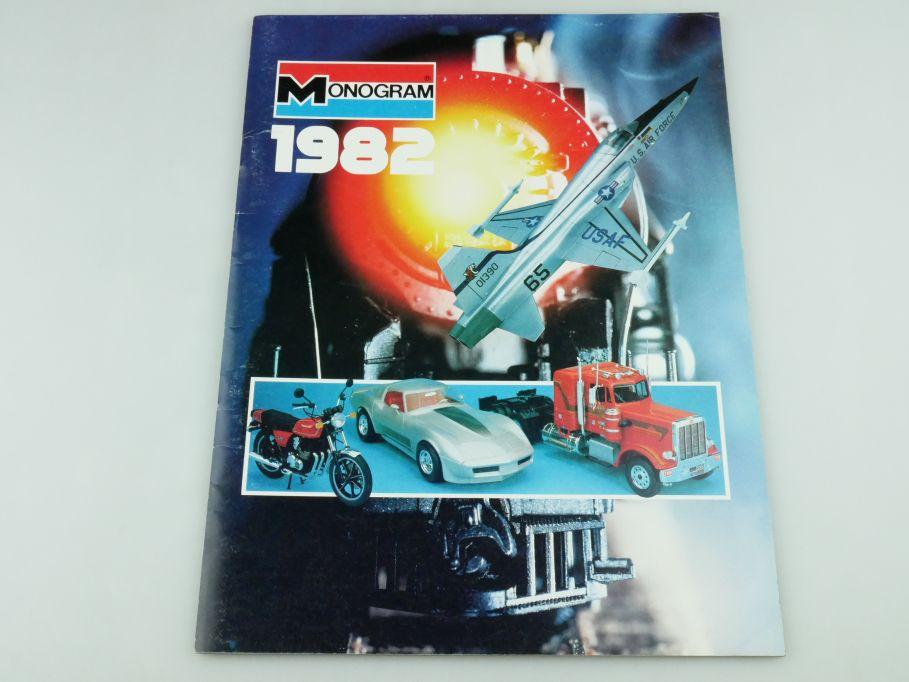 Monogram 1982 Katalog catalog vintage brochure toy kit 1/20 1/24 1/32 109387