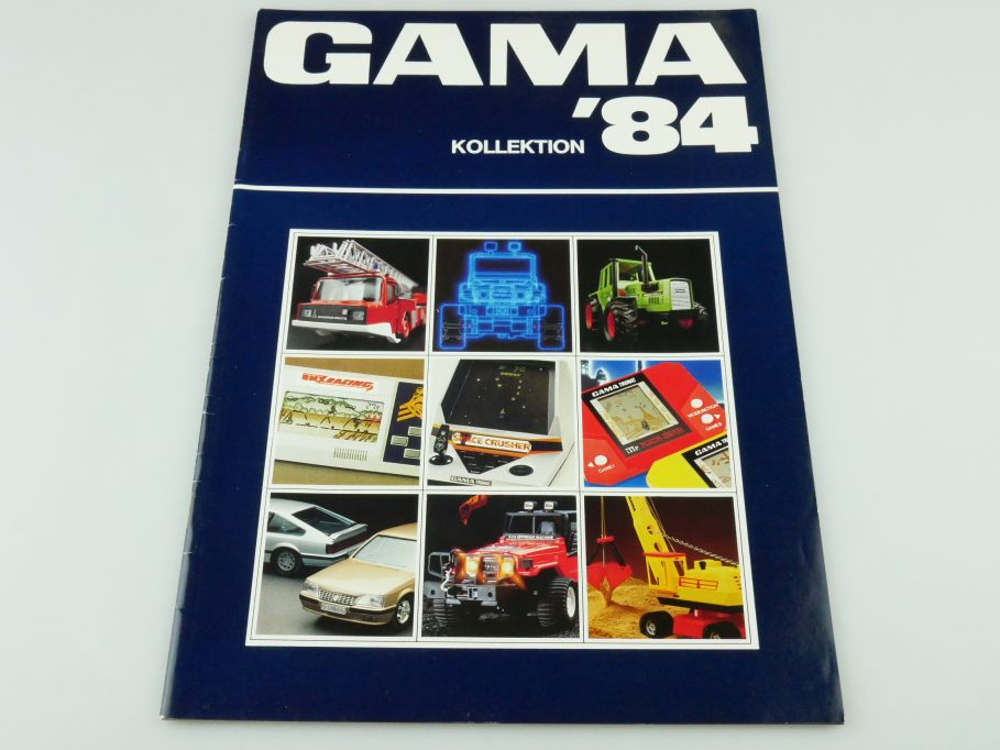 Gama 1984 Katalog 27S. Games diecast RC LCD Autos tronic Handheld catalog 109393