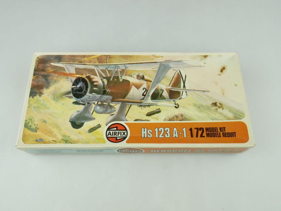 Airfix 1/72 Hs 123 A-1 No 02051-4 prop plane model kit OVP 109418