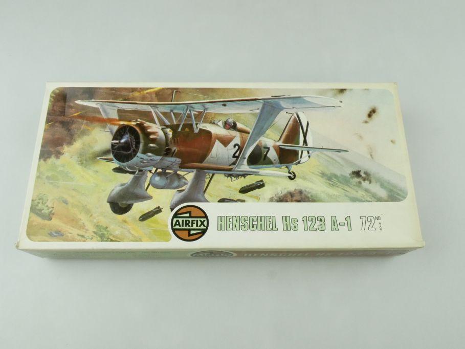 Airfix 1/72 Henschel Hs 123 A-1 prop plane model kit 02051-4 OVP 109422