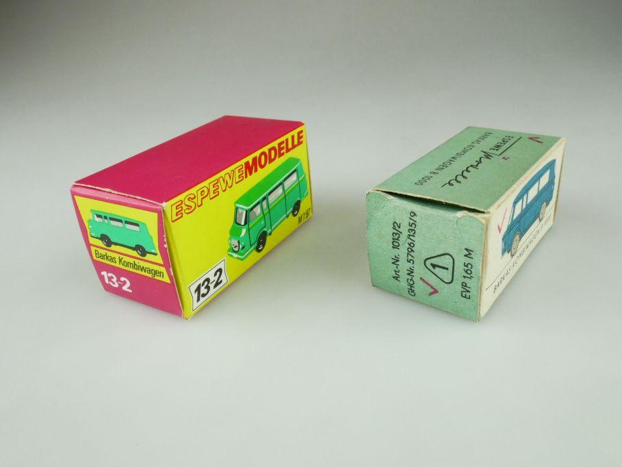 2x Espewe H0 1013/2 LEERE empty Box Barkas B1000 DDR VEB Herr 109443