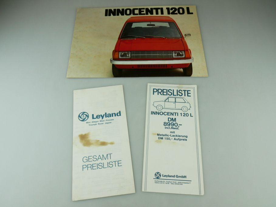 Innocenti 120L 1977 Prospekt Katalog Leyland Preisliste catalog pricelist 109395