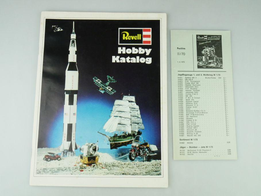 Revell Bausatz Hobby Katalog 1970 kit catalog Kits A4 55 S. Preisliste 109567
